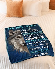 "To My Son - Mom Small Fleece Blanket - 30"" x 40"" aos-coral-fleece-blanket-30x40-lifestyle-front-01"