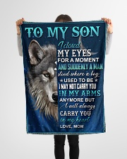 "To My Son - Mom Small Fleece Blanket - 30"" x 40"" aos-coral-fleece-blanket-30x40-lifestyle-front-14"