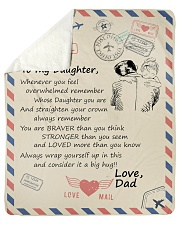 "To My Daughter-Dad Sherpa Fleece Blanket - 50"" x 60"" thumbnail"
