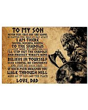 To My Son 17x11 Poster front
