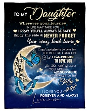 """To My Daughter- Mom Small Fleece Blanket - 30"""" x 40"""" front"""