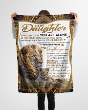 "To My Daughter - Dad Small Fleece Blanket - 30"" x 40"" aos-coral-fleece-blanket-30x40-lifestyle-front-14"