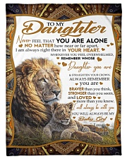 "To My Daughter - Dad Small Fleece Blanket - 30"" x 40"" front"