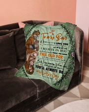 """To My Son- Mom Small Fleece Blanket - 30"""" x 40"""" aos-coral-fleece-blanket-30x40-lifestyle-front-05"""