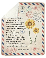 To My GrandDaughter - Grandma Sherpa Fleece Blanket tile