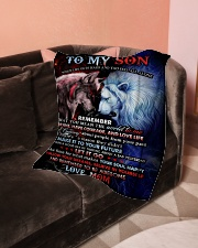 "To My Son - Mom Small Fleece Blanket - 30"" x 40"" aos-coral-fleece-blanket-30x40-lifestyle-front-05"