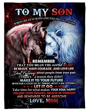 "To My Son - Mom Small Fleece Blanket - 30"" x 40"" front"
