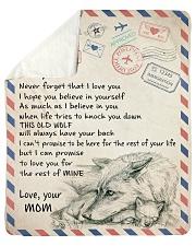 To My Son- Mom Sherpa Fleece Blanket tile