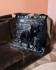 """To My Son- Mum Small Fleece Blanket - 30"""" x 40"""" aos-coral-fleece-blanket-30x40-lifestyle-front-05"""