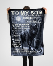"""To My Son- Mum Small Fleece Blanket - 30"""" x 40"""" aos-coral-fleece-blanket-30x40-lifestyle-front-14"""