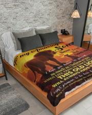"""To My Amazing Large Sherpa Fleece Blanket - 60"""" x 80"""" aos-sherpa-fleece-blanket-lifestyle-front-04"""