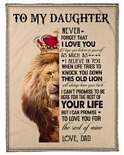 To My Daughter - Dad Fleece Blanket tile