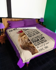 """To My Daughter - Dad Large Fleece Blanket - 60"""" x 80"""" aos-coral-fleece-blanket-60x80-lifestyle-front-01"""