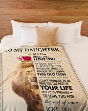"""To My Daughter - Dad Large Fleece Blanket - 60"""" x 80"""" aos-coral-fleece-blanket-60x80-lifestyle-front-02"""