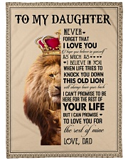 """To My Daughter - Dad Large Fleece Blanket - 60"""" x 80"""" front"""