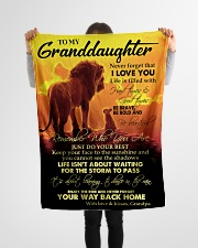 """To My Granddaughter Small Fleece Blanket - 30"""" x 40"""" aos-coral-fleece-blanket-30x40-lifestyle-front-14"""
