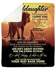 To My Granddaughter Sherpa Fleece Blanket tile