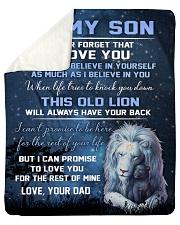 "To My Son - Dad Sherpa Fleece Blanket - 50"" x 60"" thumbnail"