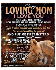 "To My Loving Mom Fleece Blanket - 50"" x 60"" front"
