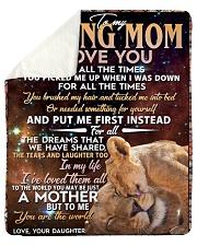 To My Loving Mom Sherpa Fleece Blanket tile
