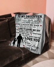 "Blanket To My Daughter Small Fleece Blanket - 30"" x 40"" aos-coral-fleece-blanket-30x40-lifestyle-front-05"