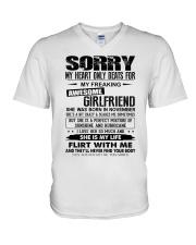 November Awesome Girlfriend V-Neck T-Shirt thumbnail