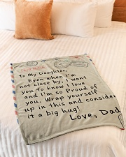 """To My Daughter- Dad Small Fleece Blanket - 30"""" x 40"""" aos-coral-fleece-blanket-30x40-lifestyle-front-01"""