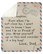 "To My Daughter- Dad Sherpa Fleece Blanket - 50"" x 60"" thumbnail"