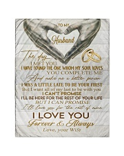 """To My Husband Quilt 40""""x50"""" - Baby front"""