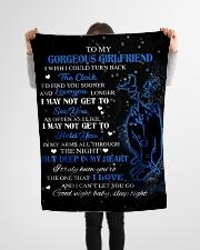 "To My Gorgeous Girlfriend Small Fleece Blanket - 30"" x 40"" aos-coral-fleece-blanket-30x40-lifestyle-front-14"