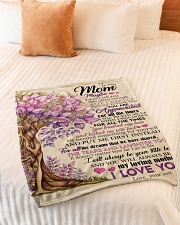 """To My Mom - Son Small Fleece Blanket - 30"""" x 40"""" aos-coral-fleece-blanket-30x40-lifestyle-front-01"""