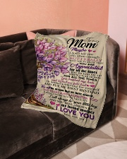 """To My Mom - Son Small Fleece Blanket - 30"""" x 40"""" aos-coral-fleece-blanket-30x40-lifestyle-front-05"""