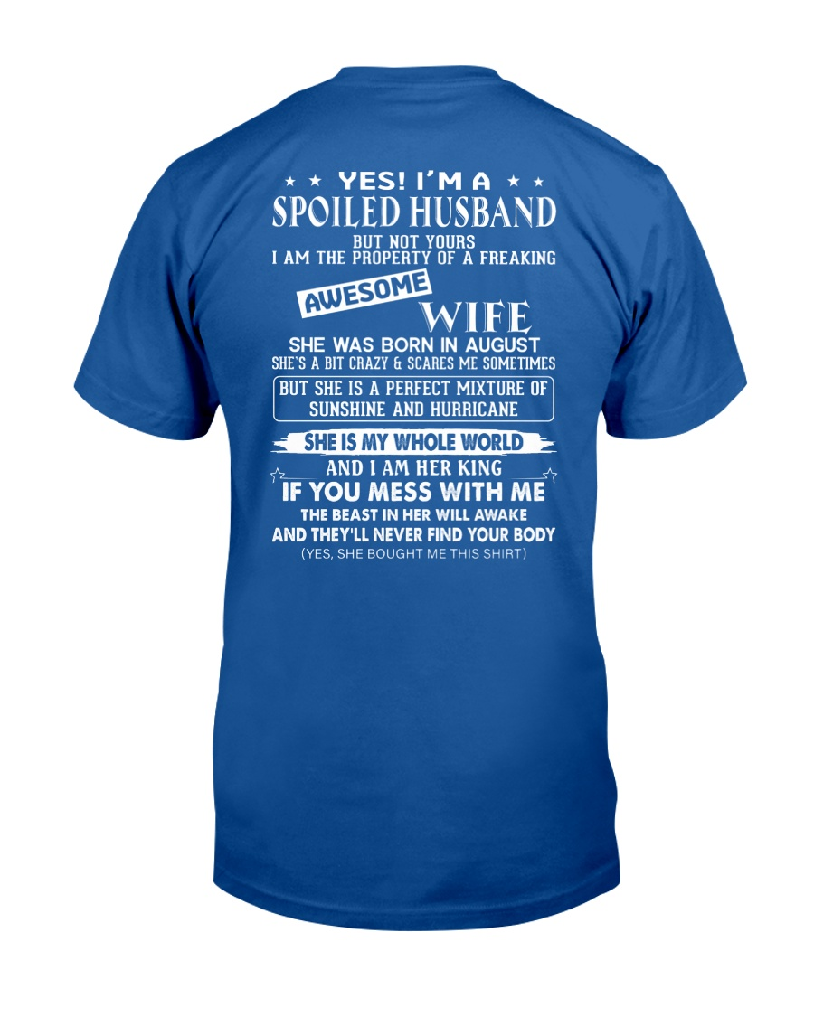 August Spolied Husband Classic T-Shirt