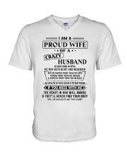 Apr Crazy Husband V-Neck T-Shirt thumbnail