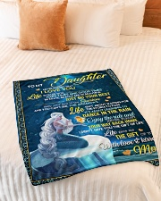 """To My Daughter - Mom Small Fleece Blanket - 30"""" x 40"""" aos-coral-fleece-blanket-30x40-lifestyle-front-01"""