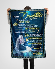 """To My Daughter - Mom Small Fleece Blanket - 30"""" x 40"""" aos-coral-fleece-blanket-30x40-lifestyle-front-14"""