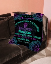"""To My Daughter-Mom Small Fleece Blanket - 30"""" x 40"""" aos-coral-fleece-blanket-30x40-lifestyle-front-05"""