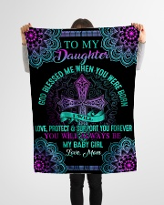 """To My Daughter-Mom Small Fleece Blanket - 30"""" x 40"""" aos-coral-fleece-blanket-30x40-lifestyle-front-14"""