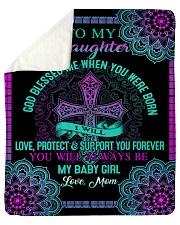To My Daughter-Mom Sherpa Fleece Blanket tile