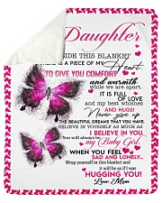 "To My Daughter - Mom Sherpa Fleece Blanket - 50"" x 60"" thumbnail"