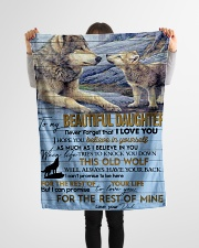 "To My Beautiful Daughter Small Fleece Blanket - 30"" x 40"" aos-coral-fleece-blanket-30x40-lifestyle-front-14"