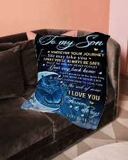 "To My Son Small Fleece Blanket - 30"" x 40"" aos-coral-fleece-blanket-30x40-lifestyle-front-05"