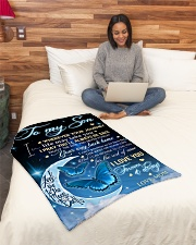"To My Son Small Fleece Blanket - 30"" x 40"" aos-coral-fleece-blanket-30x40-lifestyle-front-08"