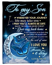 "To My Son Small Fleece Blanket - 30"" x 40"" front"