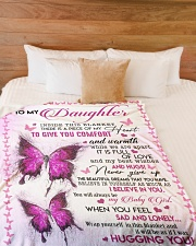"To My Daughter - Mom Large Fleece Blanket - 60"" x 80"" aos-coral-fleece-blanket-60x80-lifestyle-front-02"