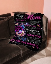 """To My Mom - Daughter Small Fleece Blanket - 30"""" x 40"""" aos-coral-fleece-blanket-30x40-lifestyle-front-05"""