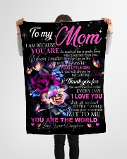 """To My Mom - Daughter Small Fleece Blanket - 30"""" x 40"""" aos-coral-fleece-blanket-30x40-lifestyle-front-14"""
