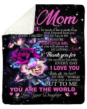 To My Mom - Daughter Sherpa Fleece Blanket tile