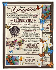 """To My Daughter - Mom Small Fleece Blanket - 30"""" x 40"""" front"""