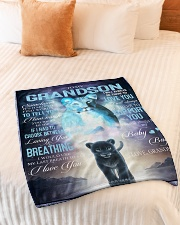 "To My Grandson - Grandma Small Fleece Blanket - 30"" x 40"" aos-coral-fleece-blanket-30x40-lifestyle-front-01"